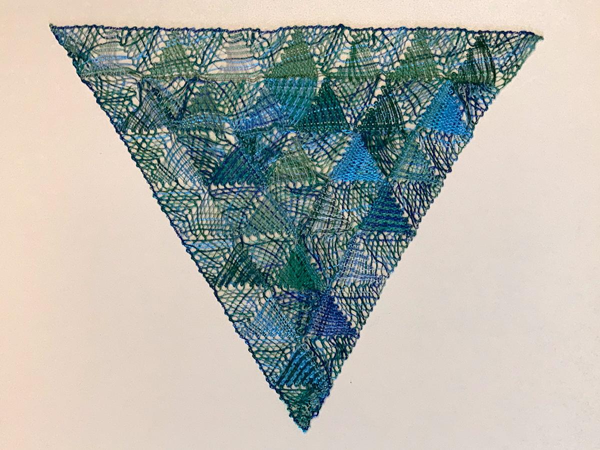 Dreieck in Blautönen